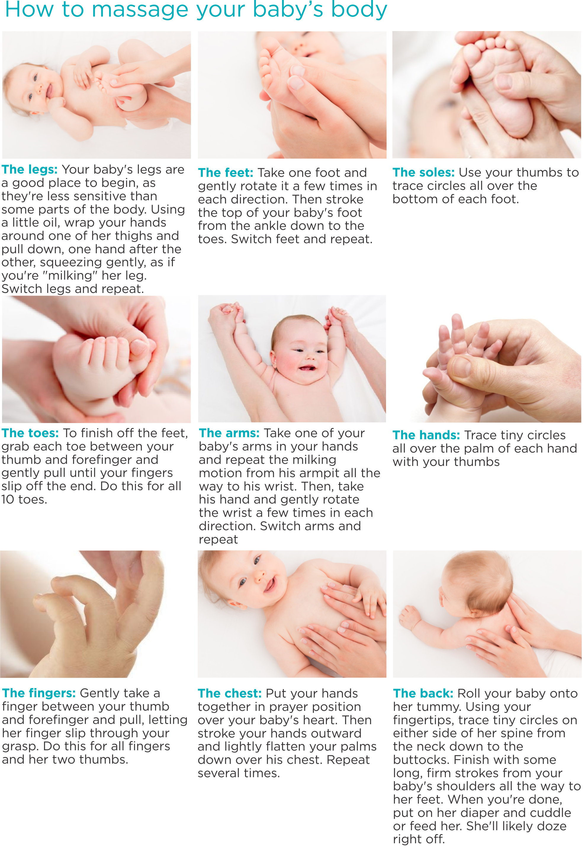 How to massage the baby 78